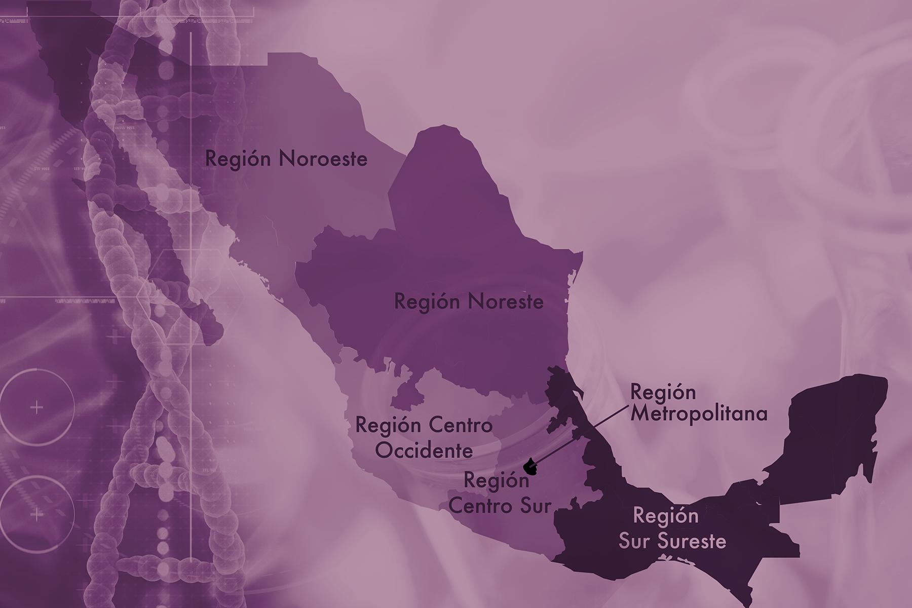 Mapa regiones asociados